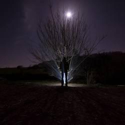 Mann mit Mond