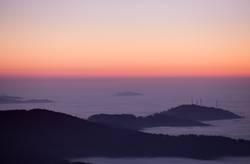 Abends über dem Nebelmeer