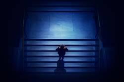 Man geht die Treppe hinunter