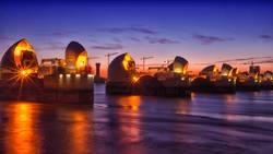 Thames Barrier Nightshot