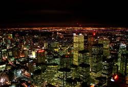 kanadische skyline - toronto