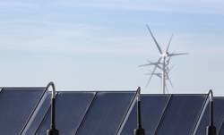 Windenergie und Solarenergie