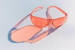 Sonnenbrille Farbe Coral
