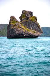 blue lagoon stone in thailand kho