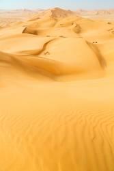 sand dune in oman old desert rub al khali