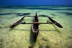 a boat in the sea of Madagascar
