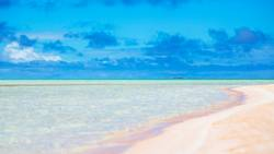 in polynesia the pink sands of the coastline