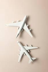 Two jet airplane. Travel around the world.