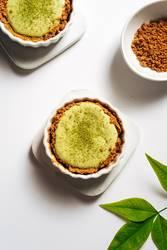 Homemade matcha cheesecake