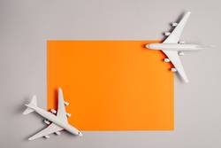 two jet planes travel concept, minimal art