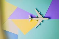 Passenger jet airplane, travel minimal concept