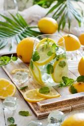 Homemade refreshing lemonade