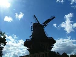 Silhouettenmühle