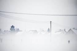 Schneegestöber.