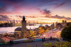 Hamburg Abend-Skyline