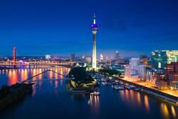 Düsseldorf Abendskyline