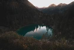 Sonnenuntergang am Sieglsee