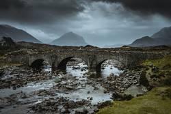 Sligachan Brücke auf der Isle of Skye in Schottland