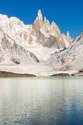 lake and cerro torre close up