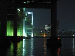 Tokyo Rainbow Bridge at night