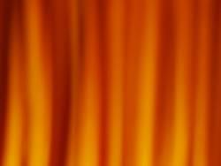 Vorhang in Flammen
