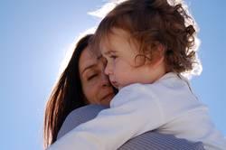 maternal hug