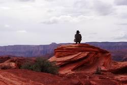 Cowboy on the rocks