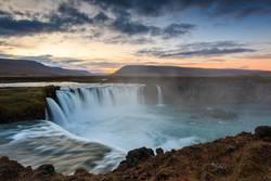 Godafoss, Islande, berühmter Wasserfall in Island.
