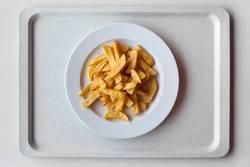 Mensa: gesunde Gelb-Gelb-Tellermischung