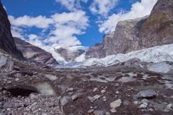 wandern zum Gletscher