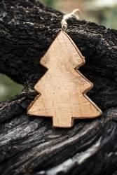 Christmas fir shape on branch