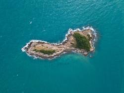 Aerial views of small island off Ko Samet, Thailand