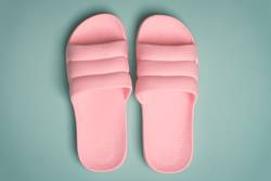pink flip flop shoes perfect for a young lady