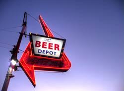 Beer Depot, abends