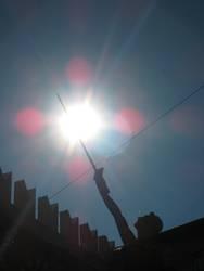 Sonne am Spieß