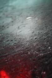Im Regen gefangen