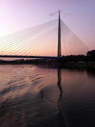 Sonnenaufgang in Belgrad