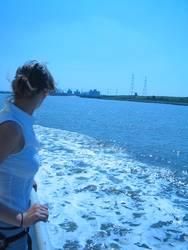 kleines Mädchen zum Meer