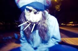 Verrücktheit mit drei Zigaretten