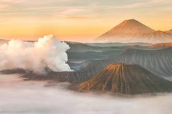 Mount Bromo volcano at sunrise, East Java, Indonesia.