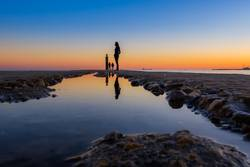 Sonnenuntergang am Pier con Cascais, Portugal