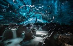 Eishöhle, Gletscher, Island