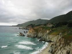 Pazifikküste von US Highway 1 aus