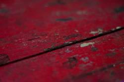 rote Holzlatten