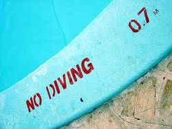 no diving at all