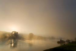 Sonnenaufgang an der Elbe