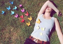 Schmetterlinge im Bauch.
