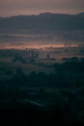 Provence im Nebel I