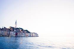 Town of Rovinj at sunset