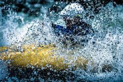 Kayaking in whitewater